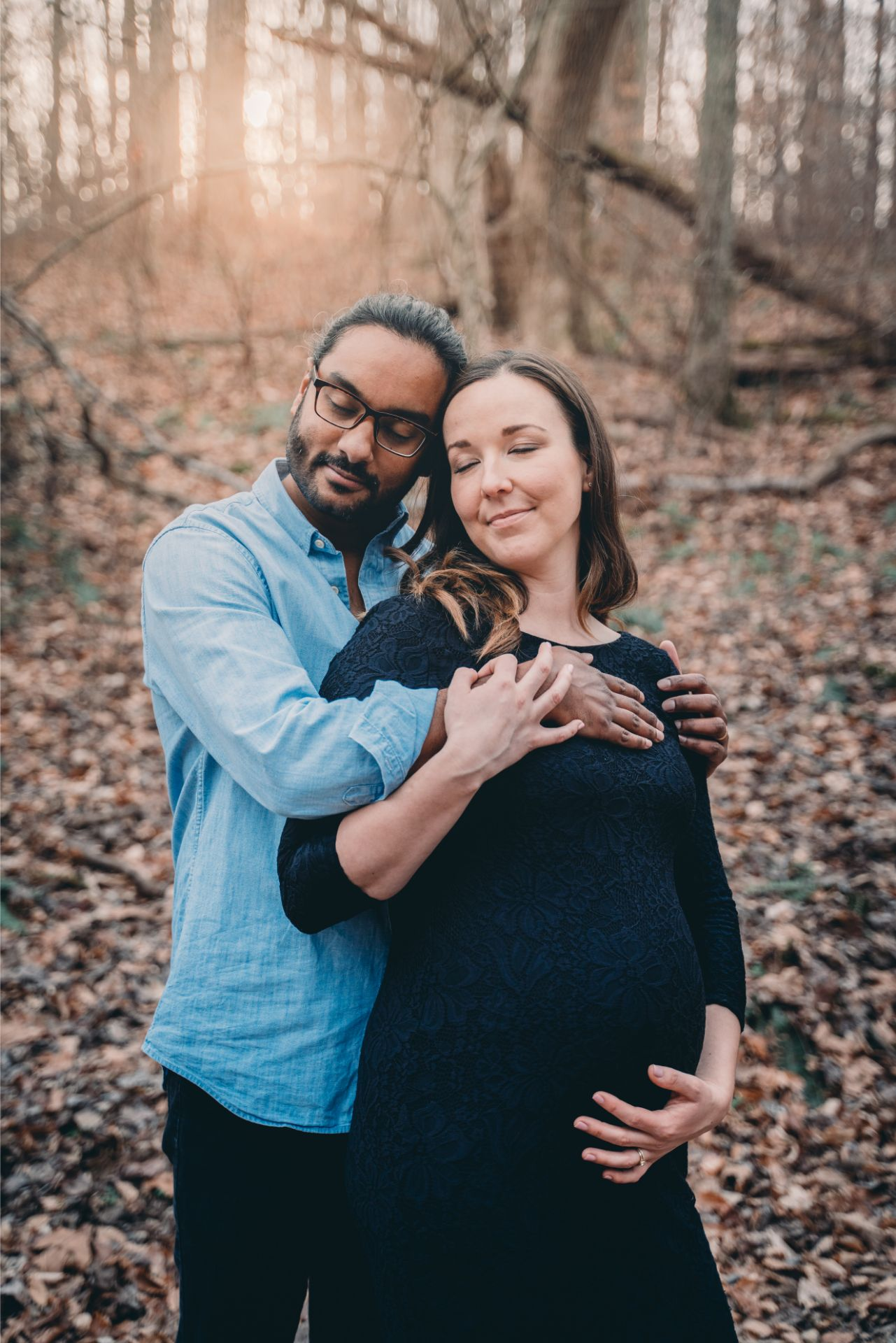 Best Maternity Photographer rock creek park editorial maternity photo session