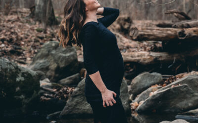 Washington DC Rock Creek Park Maternity Photography Session Winter