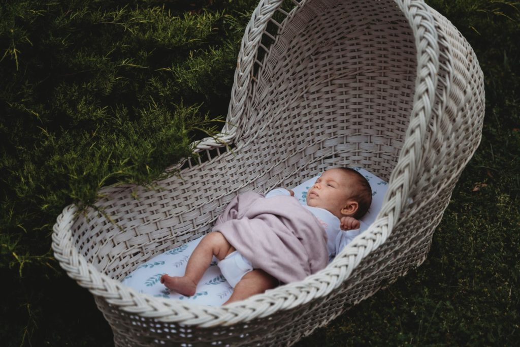 outdoor newborn photography session chevy chase maryland